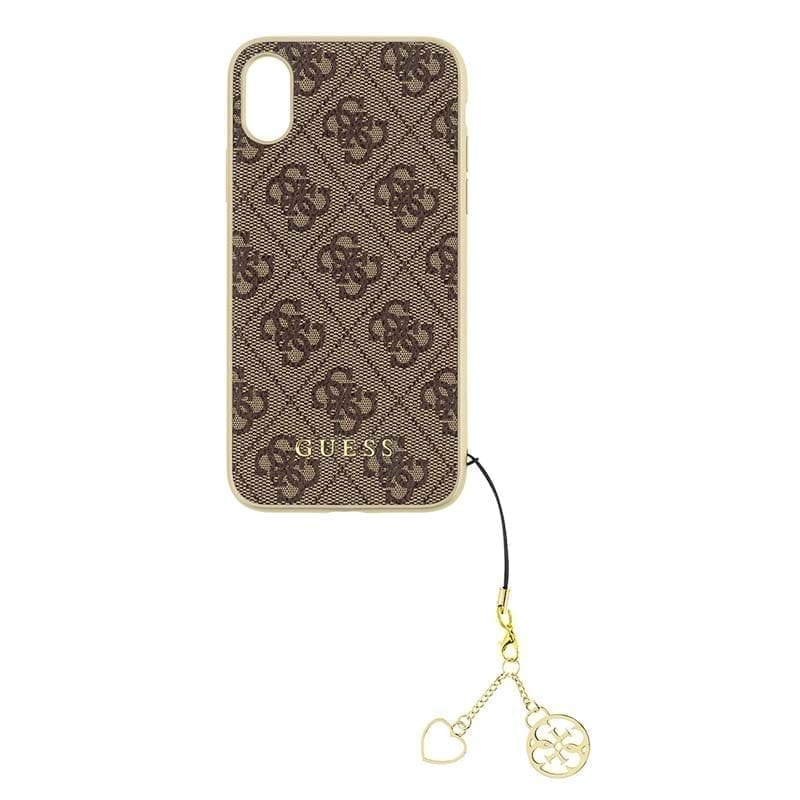 Guess 4G Charms Brown iPhone X/XS Tok