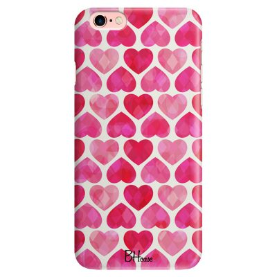 Hearts Pink iPhone 6/6S Tok