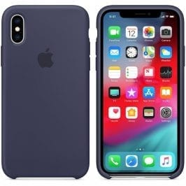 Apple Midnight Blue Silicone iPhone XS Tok