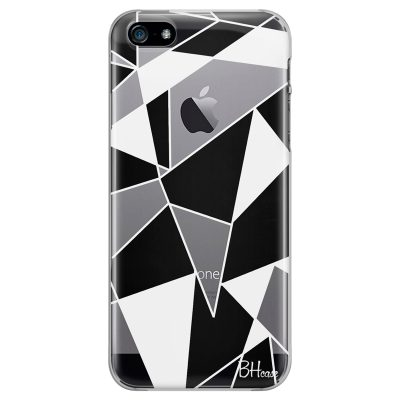 Black White Geometric iPhone SE/5S Tok