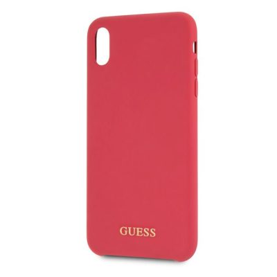 Guess Silicone Gold Logo Red iPhone XS Max Tok