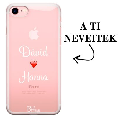 Kettős nevű iPhone 7/8 tok