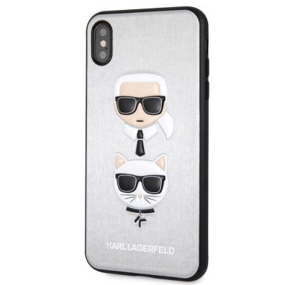 Karl Lagerfeld Karl And Choupette Silver Hard iPhone XS Max Tok