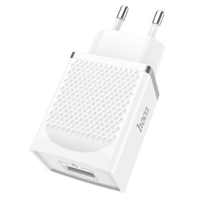 Hoco USB Charger White C42A