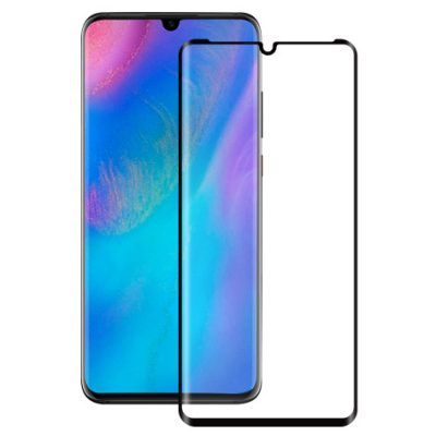 Full 3D Premium Tempered Glass Black Huawei P30 Pro
