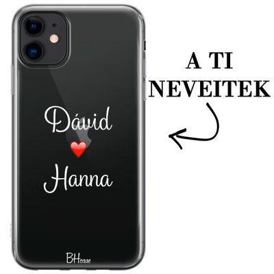 Kettős nevű iPhone 11 tok