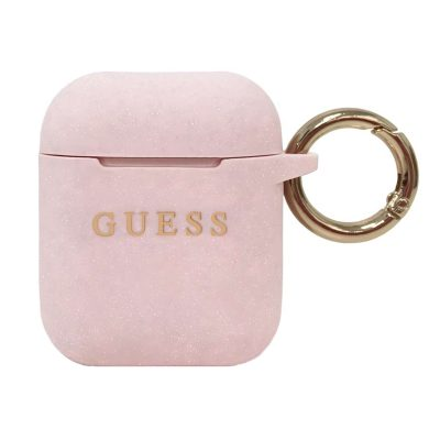 Guess AirPods Silicone Case Pink