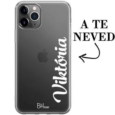 Névvel ellátott -függőleges- iPhone 11 Pro tok