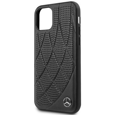 Mercedes Perforated Leather Black iPhone 11 Tok