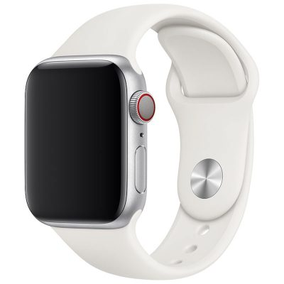 Silicone Szíj Apple Watch 42/44mm Antique White Large