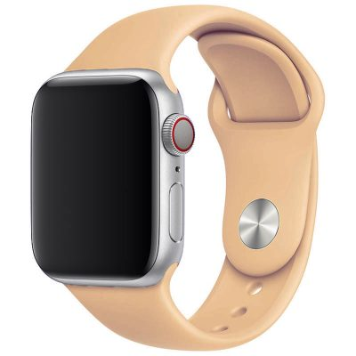Silicone Szíj Apple Watch 42/44mm Apricot Large