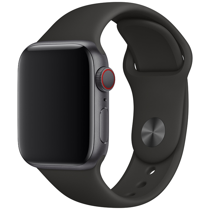 Silicone Szíj Apple Watch 42/44mm Black Large