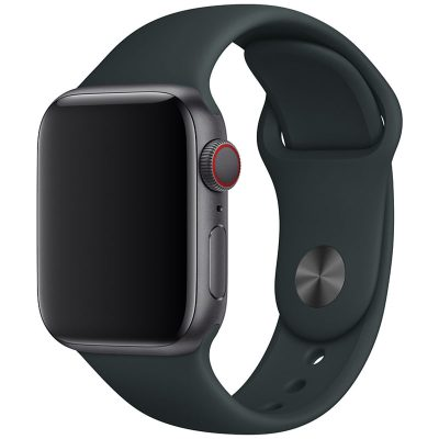 Silicone Szíj Apple Watch 42/44mm Dark Gray Large