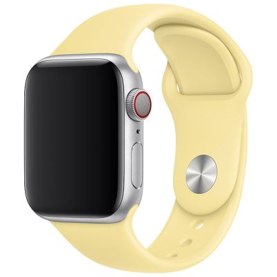 Silicone Szíj Apple Watch 42/44mm Lemon Cream Large