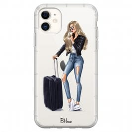 Woman Blonde With Baggage iPhone 11 Tok