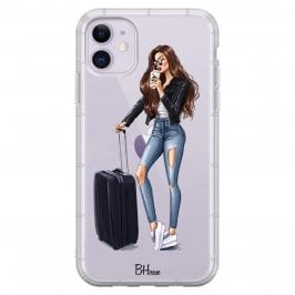 Woman Brunette With Baggage iPhone 11 Tok