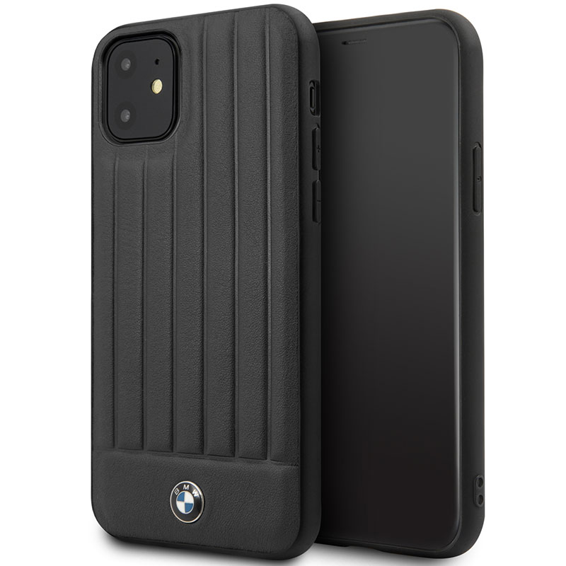 BMW Real Leather Hard Case Black iPhone 11 Tok