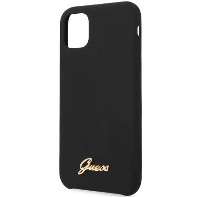 Guess Silicone Vintage Black iPhone 11 Tok