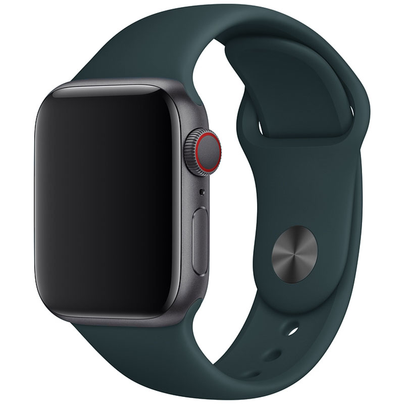 Silicone Szíj Apple Watch 38/40mm Olive Small