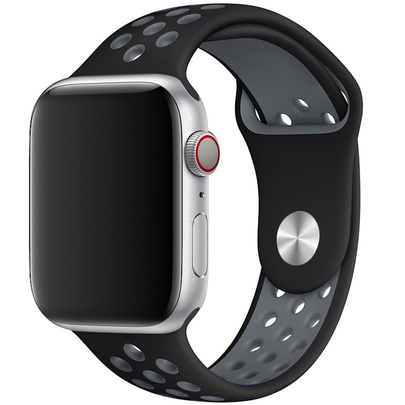 Sport Szíj Apple Watch 42/44mm Black/Gray Large