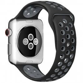 Sport Szíj Apple Watch 38/40mm Black/Gray Small