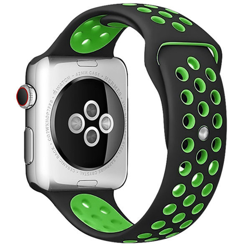 Sport Szíj Apple Watch 42/44mm Black/Green Large