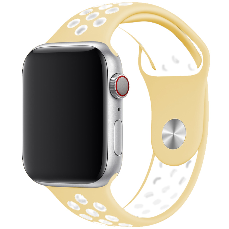 Sport Szíj Apple Watch 42/44mm Milk Yellow/White Large