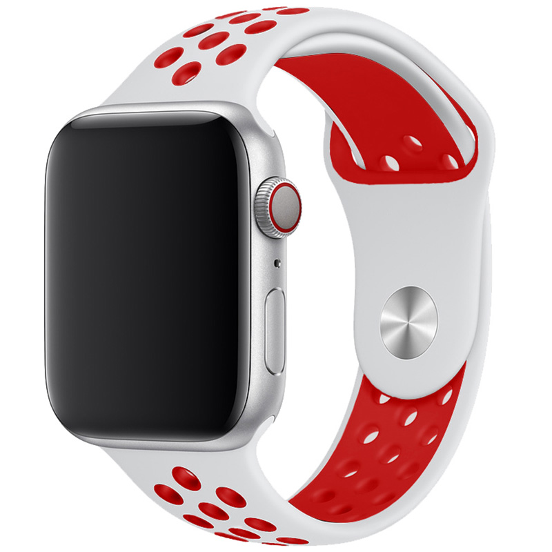 Sport Szíj Apple Watch 42/44mm White/Red Large