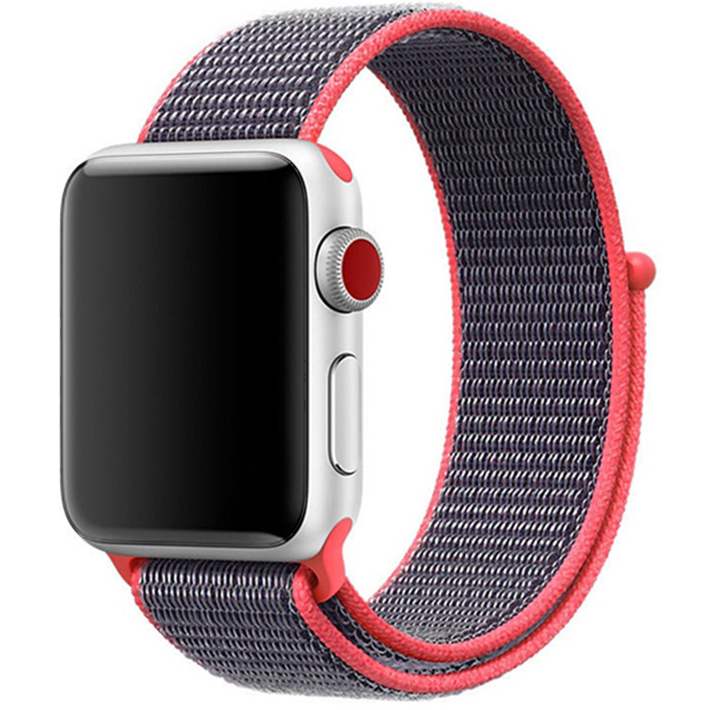 Nylon Szíj Apple Watch 42/44mm Electronic Pink