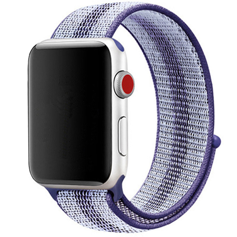 Nylon Szíj Apple Watch 42/44mm Striped Purple