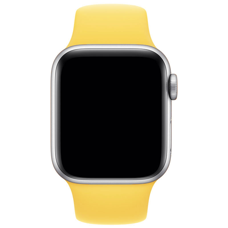 Silicone Szíj Apple Watch 42/44mm Canary Yellow Large