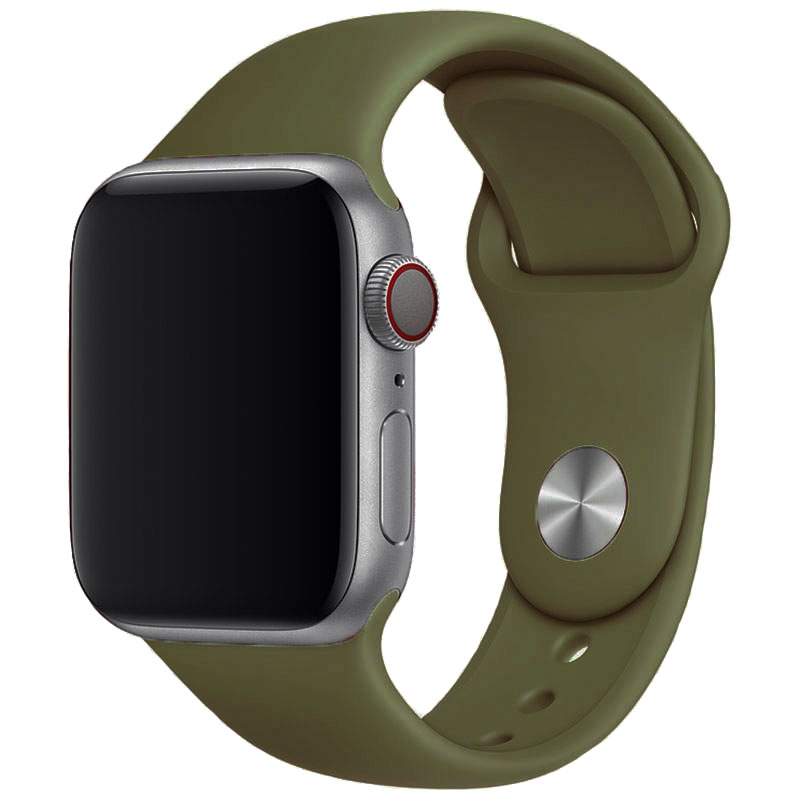 Silicone Szíj Apple Watch 42/44mm Deep Olive Large