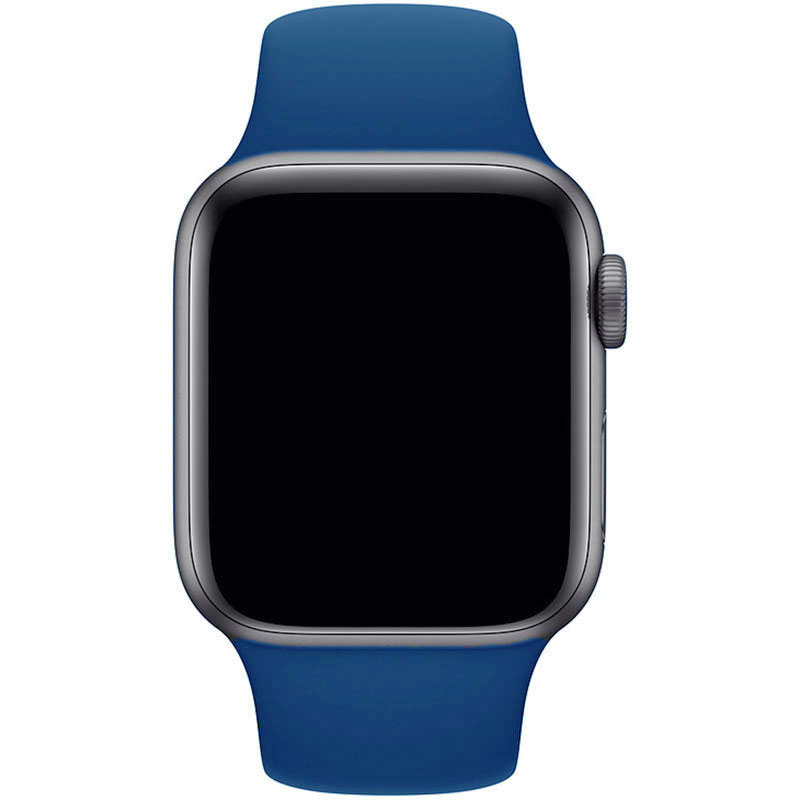 Silicone Szíj Apple Watch 42/44mm Delft Blue Large