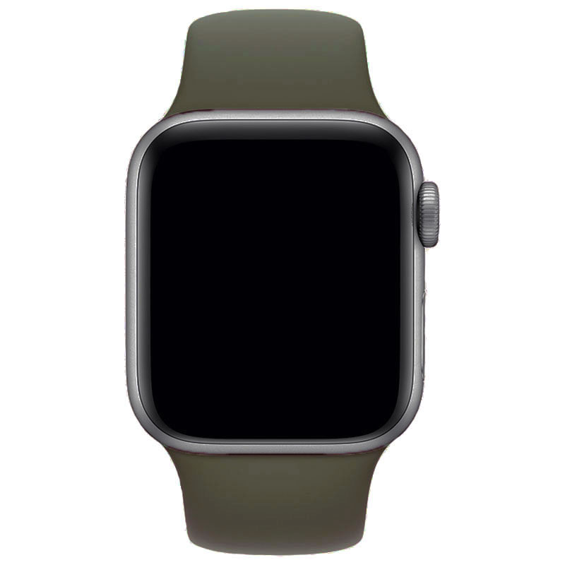 Silicone Szíj Apple Watch 42/44mm Khaki Large