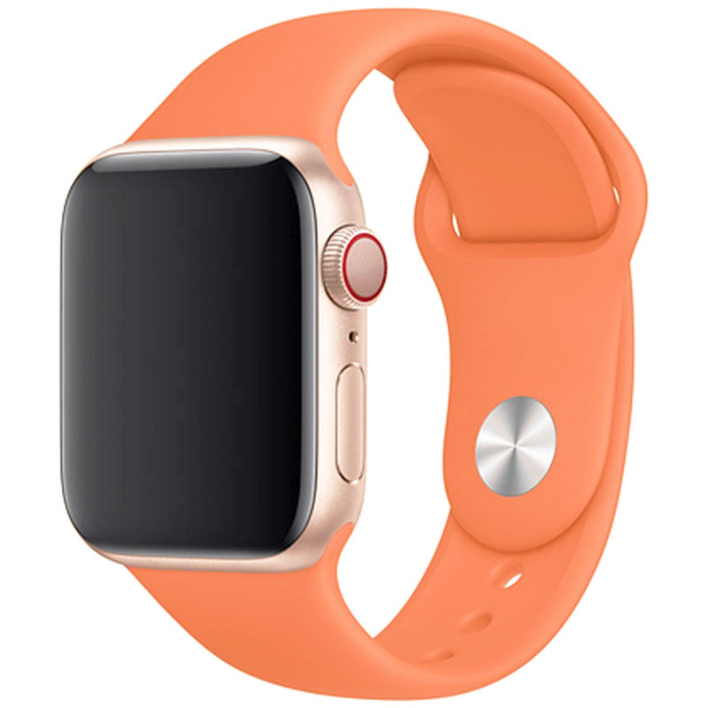 Silicone Szíj Apple Watch 42/44mm Papaya Large