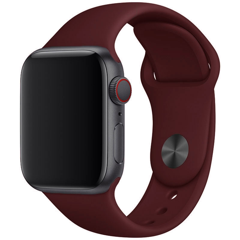 Silicone Szíj Apple Watch 42/44mm Wine Red Large