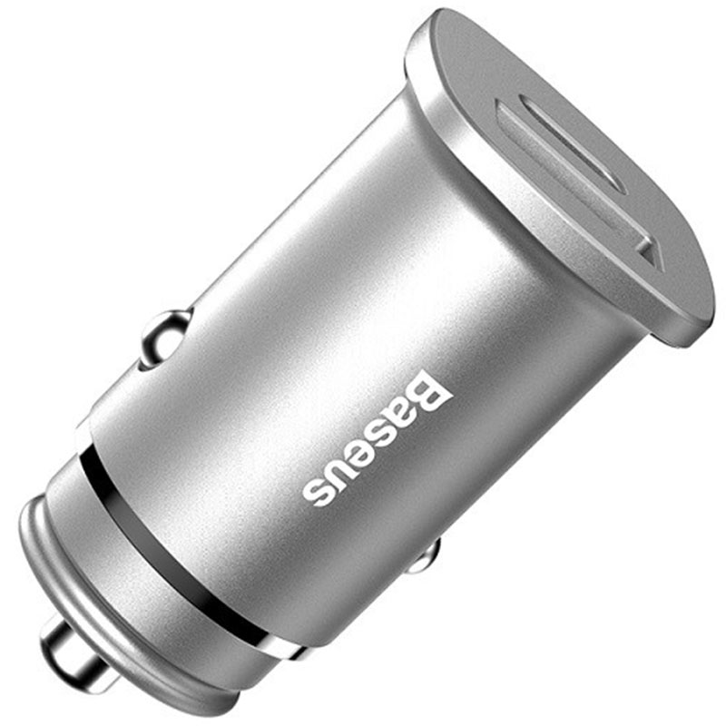 Baseus Dual USB + Type C Car Charger Silver