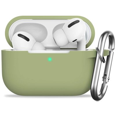 Silicone Tok Airpods Pro Protective Matcha Green