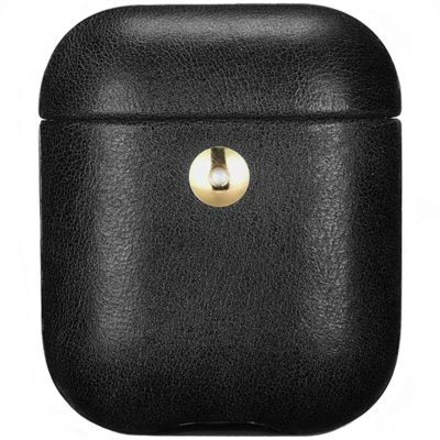 iCarer Crazy Horse Leather AirPods Tok Black