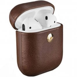 iCarer Crazy Horse Leather AirPods Tok Coffee