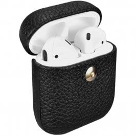 iCarer Hermes Leather AirPods Tok Black