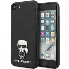 Karl Lagerfeld Saffiano Iconic Black iPhone 8/7/SE 2 2020 Tok