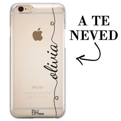 Szív és név iPhone 6 Plus/6S Plus tok