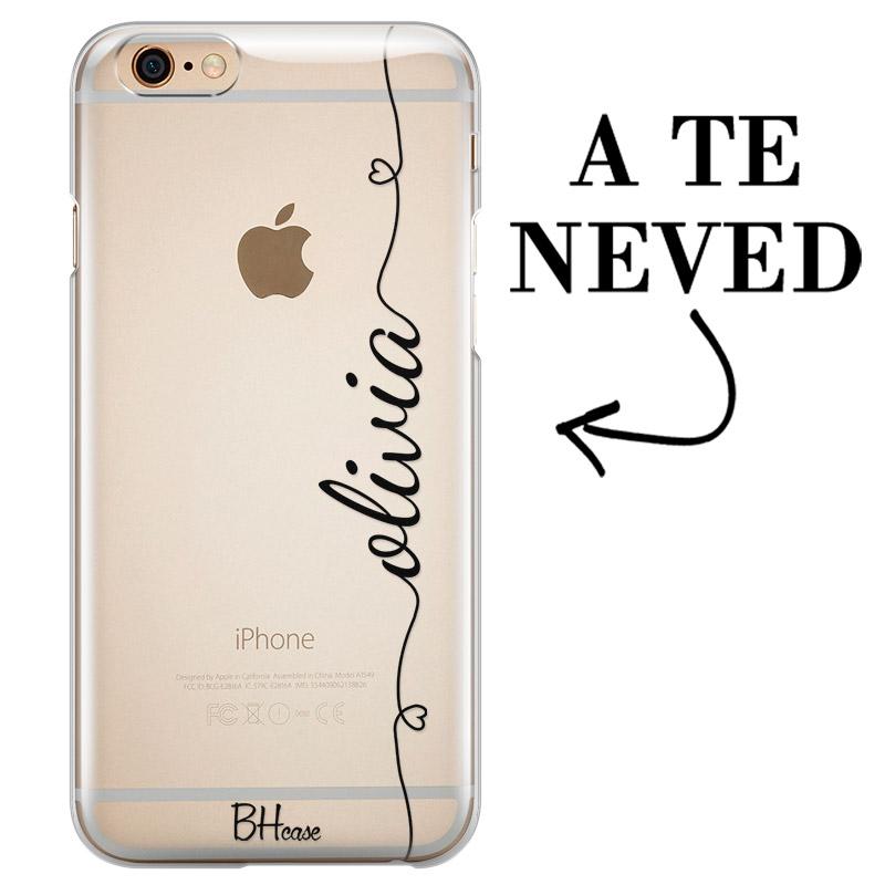 Szív és név iPhone 6/6S tok