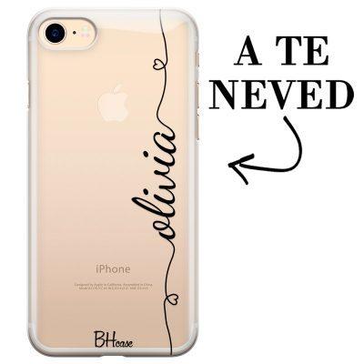 Szív és név iPhone 7/8/SE 2 2020 tok