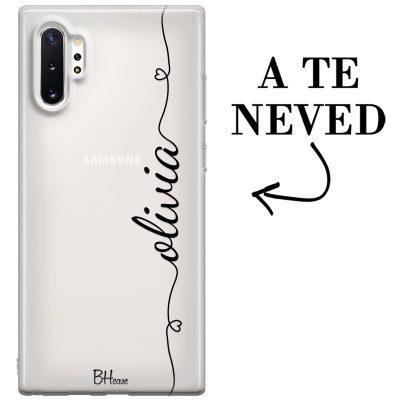 Szív és név Samsung Note 10 Plus tok
