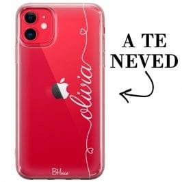 Szív és név iPhone 11 tok