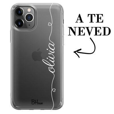 Szív és név iPhone 11 Pro tok