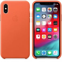 Apple Sunset Leather iPhone XS Tok