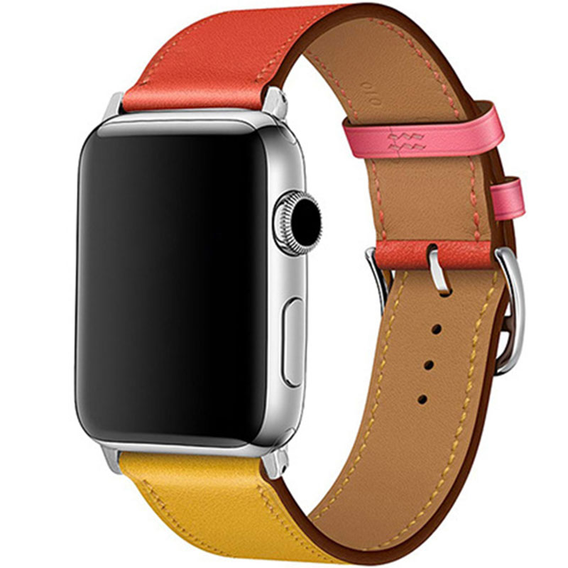 Leather Strap Apple Watch 42/44mm Ambre Capucine